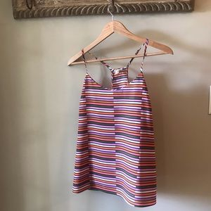 NWT J.Crew Colorful Racer-Back Adjustable Cami